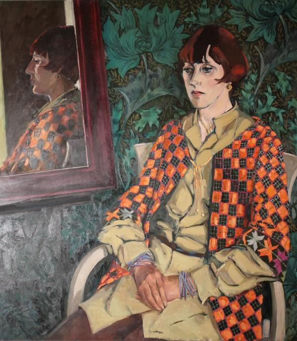 Image: 'Rozanne Hawksley' ca. 1984 a portrait painted by her friend Margaret Lilliford