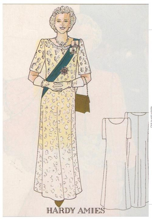 Image: A fashion design for HM The Queen by Jon Moore
