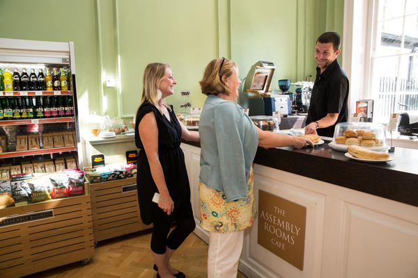 Image: Visitors in the Assembly Rooms café