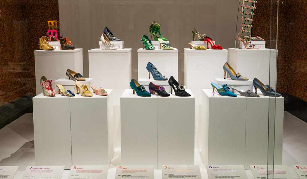 Image: A selection of shoes designed by Manolo Blahnik