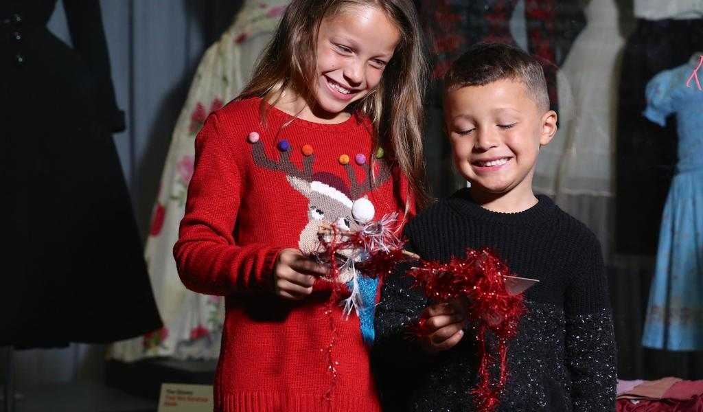 Image: Kids taking part in a Christmas activity