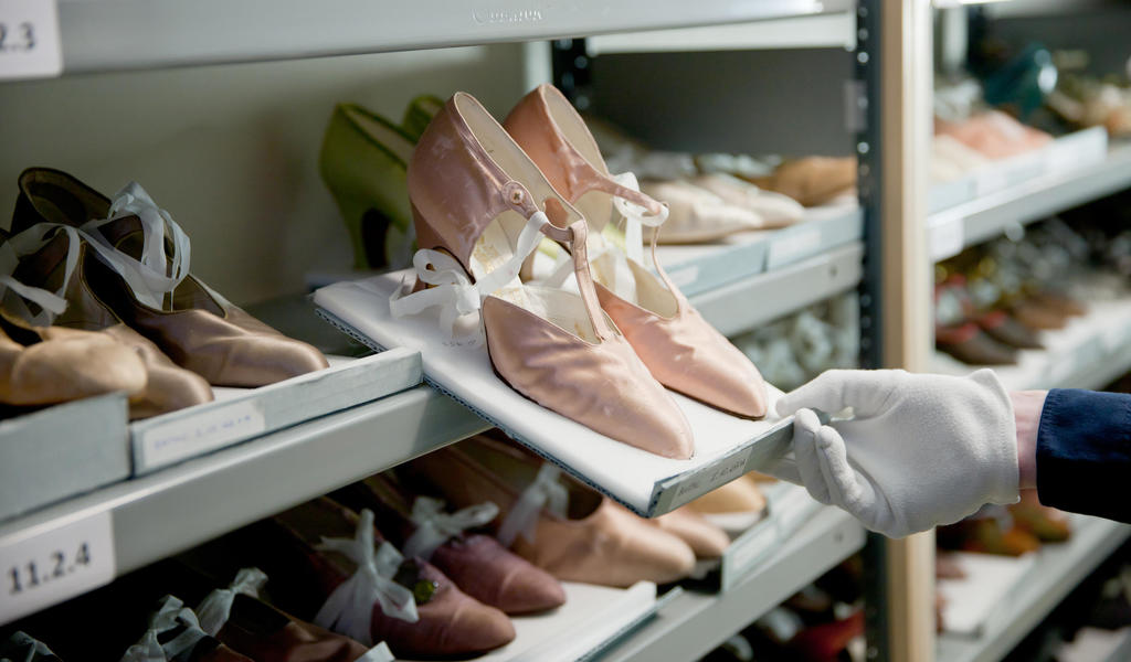 Image: Part of the Fashion Museum shoe collection