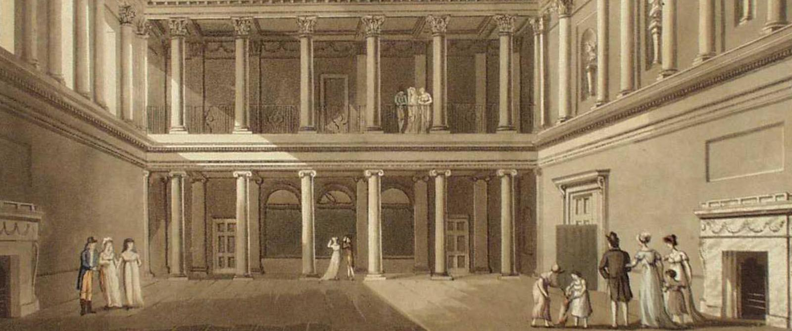 Image: 'The Concert Room', 1805 print by John Claude Nattes