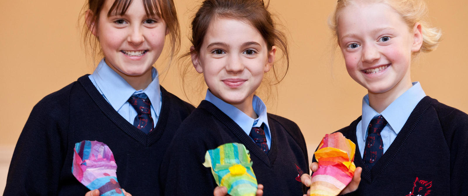 Image: Pupils taking part in a craft activity