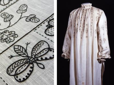 Image: Blackwork embroidered shirt