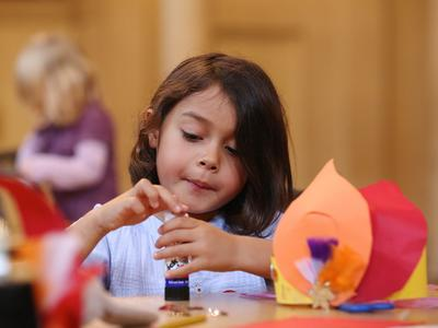Image: Child taking part in an activity