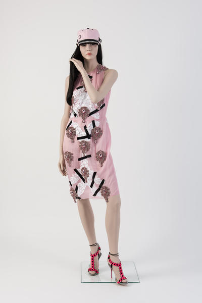 Image: 2013: Christopher Kane: Pink dress with gaffer tape, shoes by Sophia Webster. Selector: Susanna Lau, www.stylebubble.co.uk