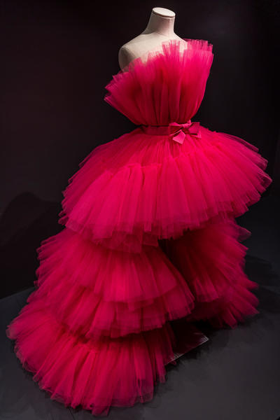 Image: 2019: Giambattista Valli for H&M: Pink tulle dress. Selector: Donna Wallace