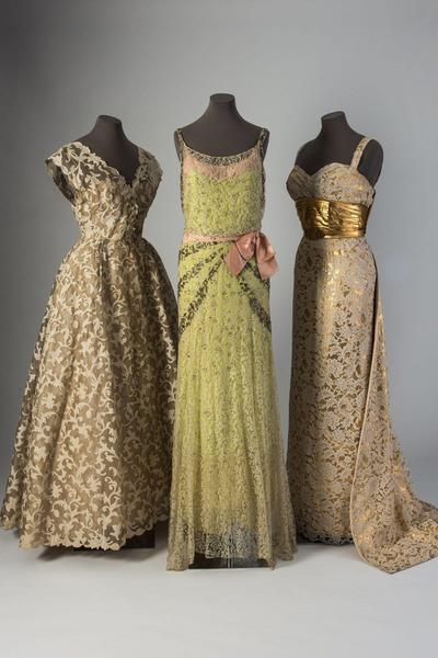 Image: Dresses from the Lace in Fashion exhibition