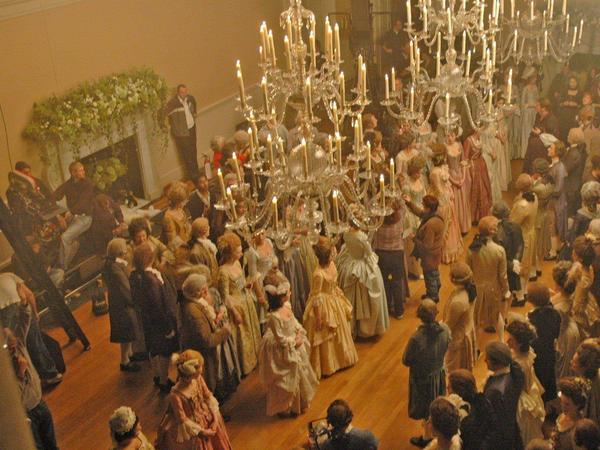 Image: Filming of The Duchess feature film with Keira Knightley