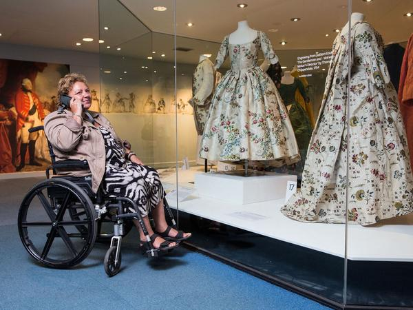 Image: Wheelchair access at the Fashion Museum