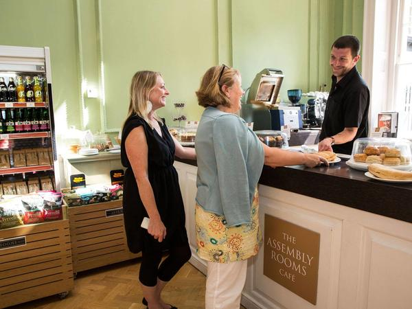 Image: Visitors at the Assembly Rooms café