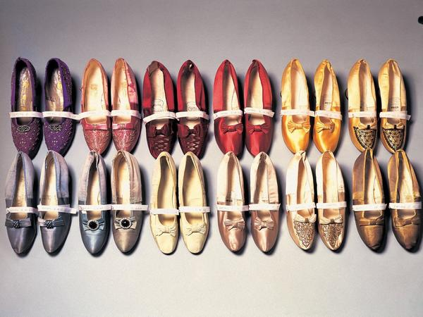 Image: A selection of shoes from the Fashion Museum Collection