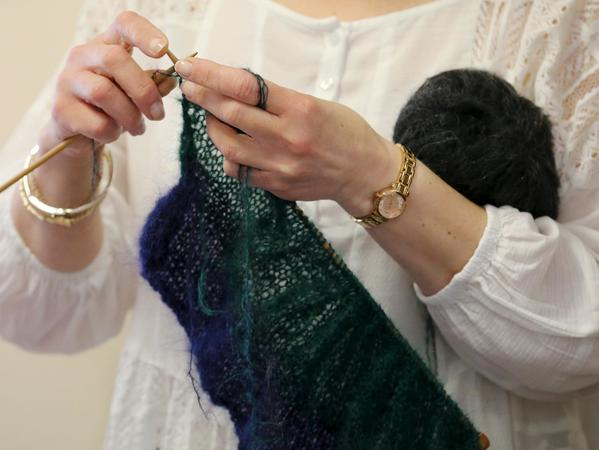 Image: Knitting at the Fashion Museum